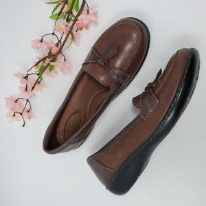 Clarks Brown Leather Tassel Loafers Shoes 9 M
